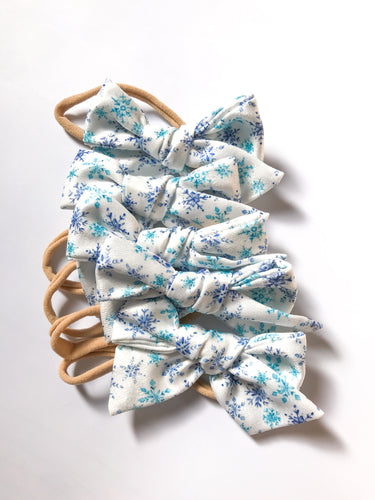 Hand-Tied Bow-Satin Snowflake