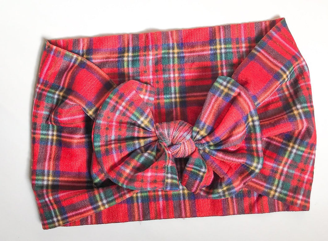 Classic Nylon Headwraps- Holiday Plaid