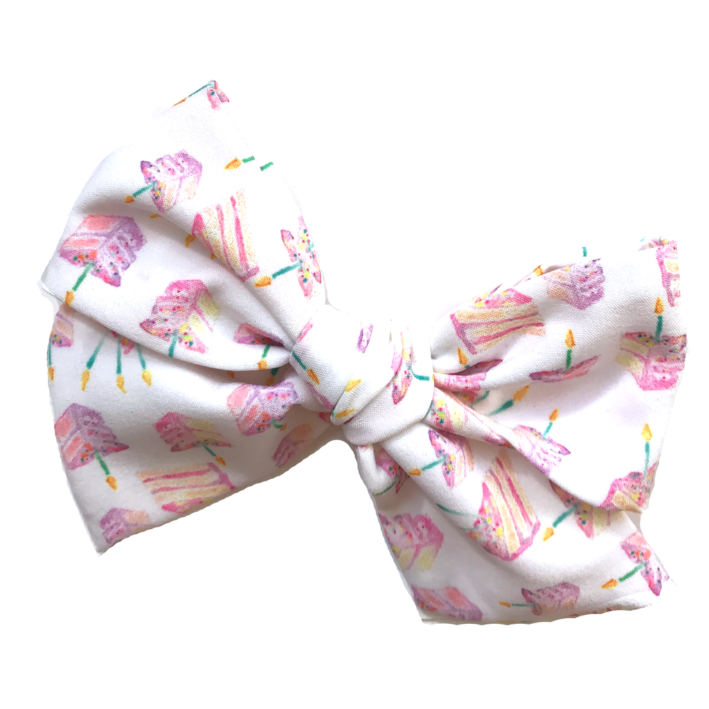 Oversized Hand Tied Bow-Birthday