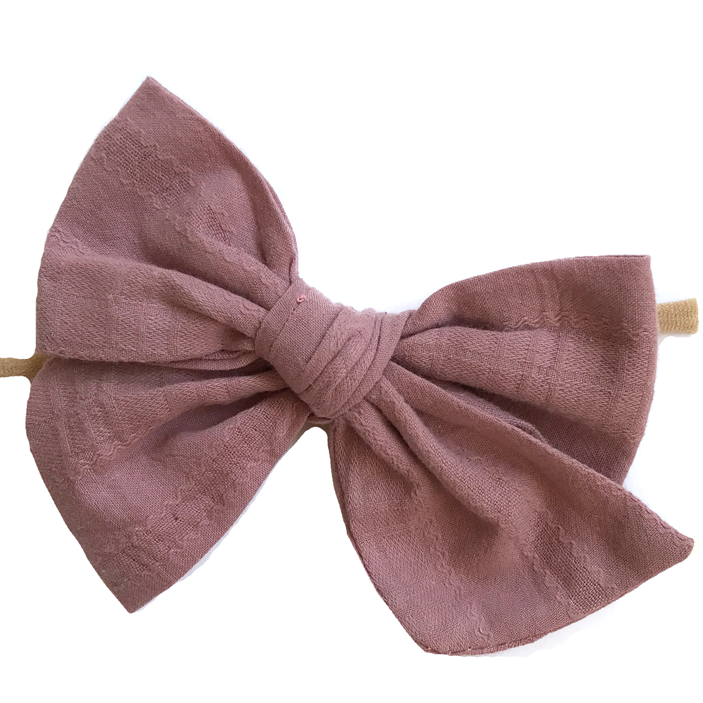 Oversized Hand Tied Bow- Dark Dusty Purple