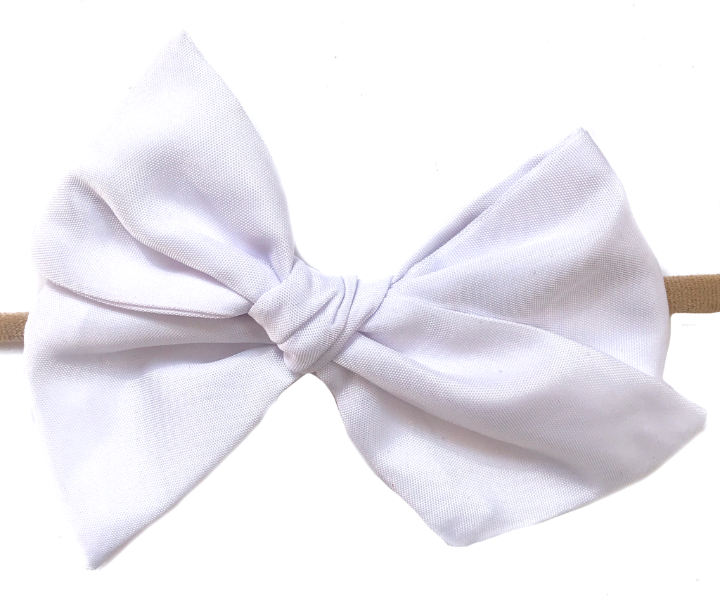 Hand-Tied Bow - Water White