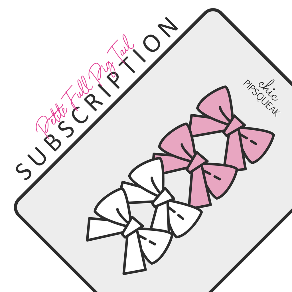 Petite Bow Full Pig Tail Bow Subscription