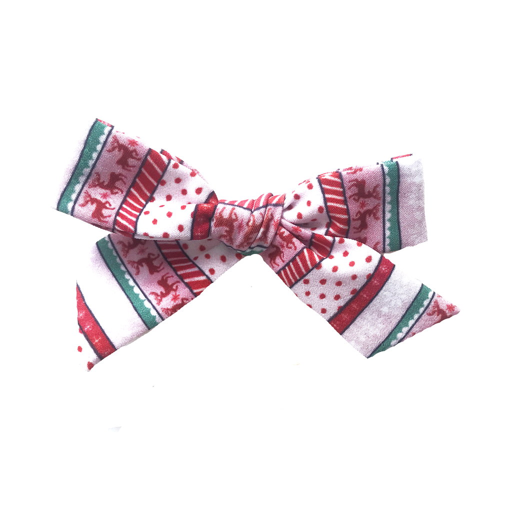 Petite Hand-Tied Bow -2020 Fair Isle MONTHLY SPECIAL