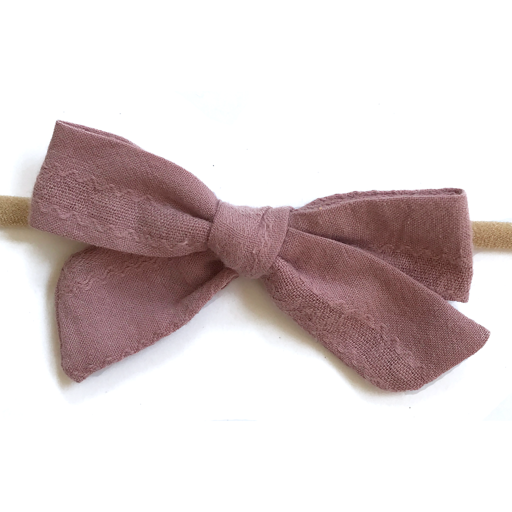 Petite Hand-Tied Bow - Dark Dusty Purple