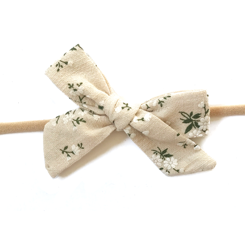 Petite Hand-Tied Bow - Natural Fall Floral