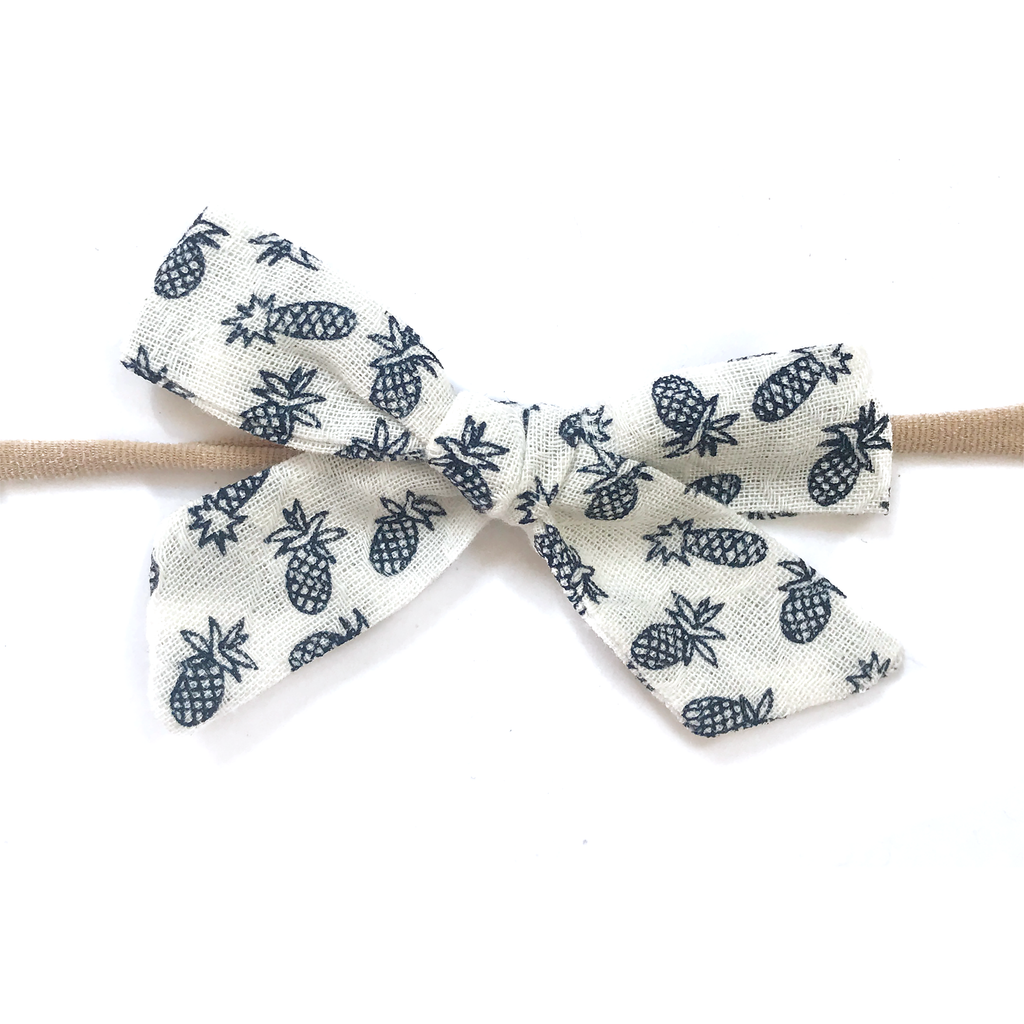 Petite Hand-Tied Bow -Pineapple