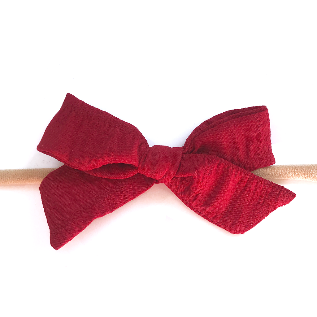 Petite Hand-Tied Bow - Red Kringle