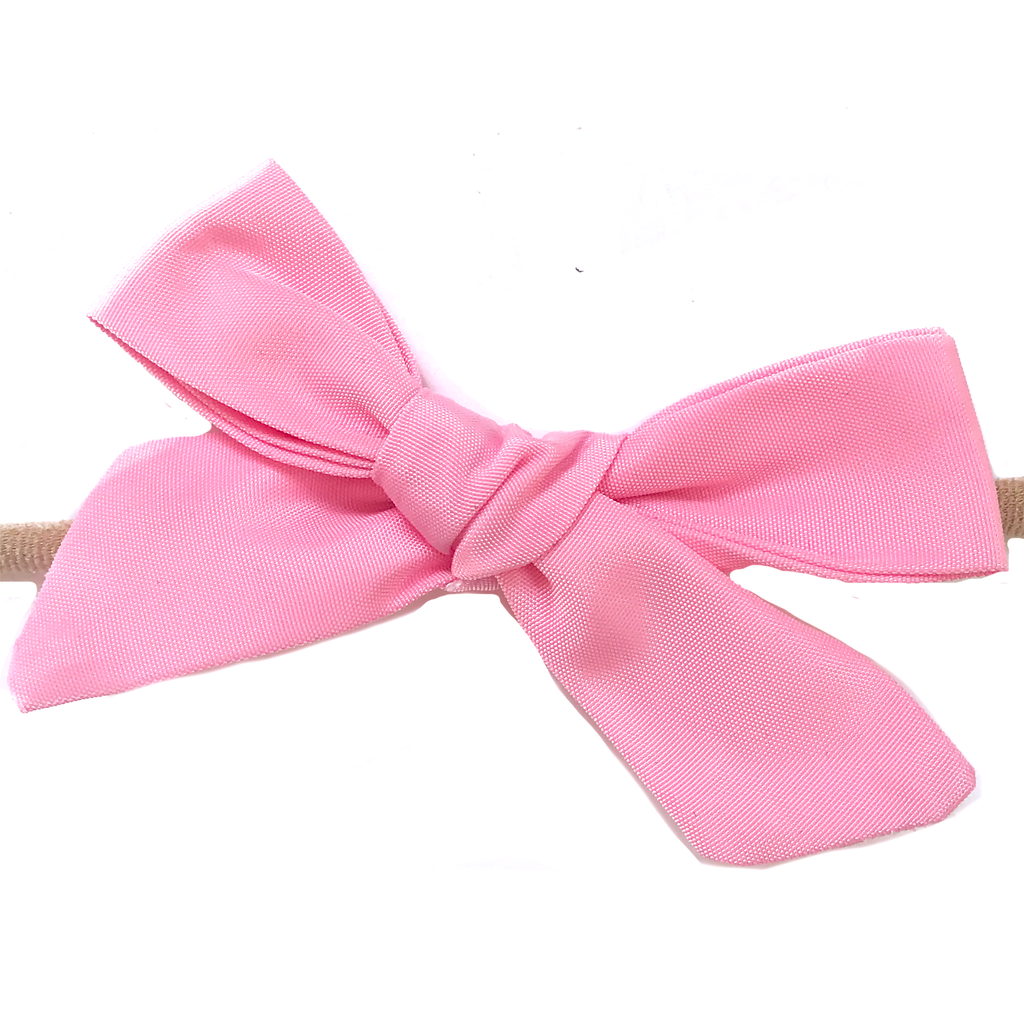 Petite Hand-Tied Bow - Water Pink