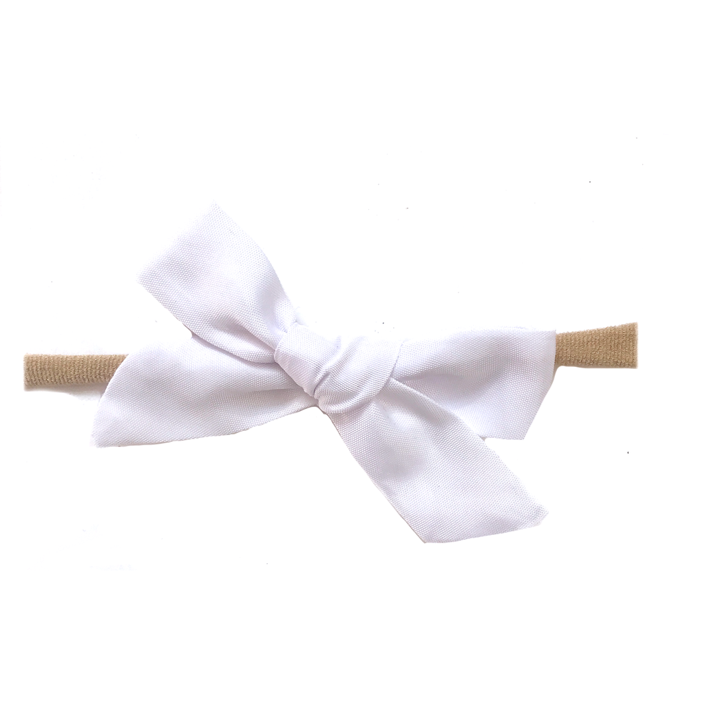 Petite Hand-Tied Bow - Water White