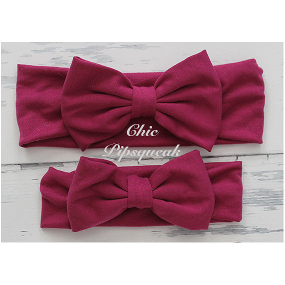 Ella Plum Single Bow Headwrap Headband