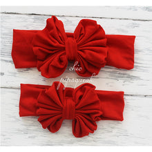 Floppy Bow Headband, Stripe Red/White