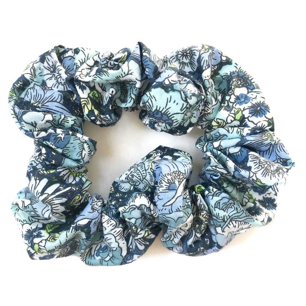 Scrunchie- Fall Blue Floral