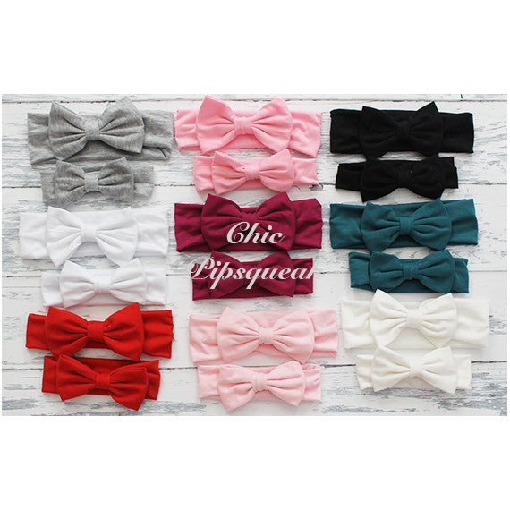 Ella White Single Bow Headwrap Headband
