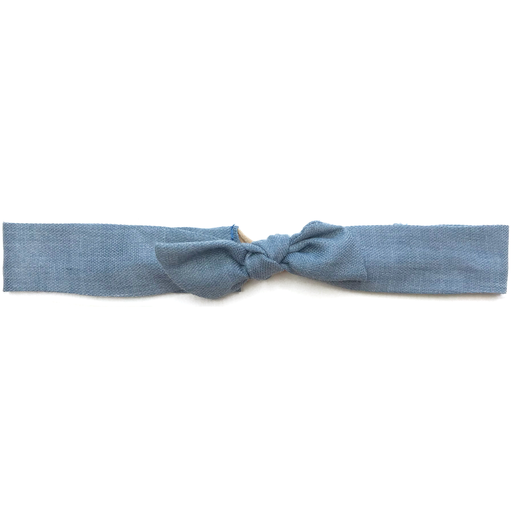 Vintage Headband- Airy Blue Soft Flannel