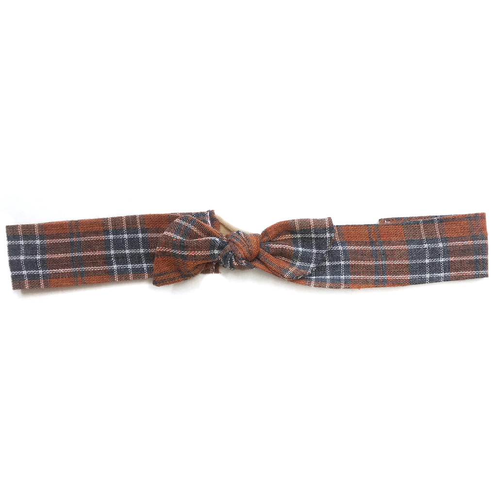 Vintage Headband- Fall Plaid