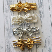 Baby Headwrap, Headwrap, Top Knot Headband, Messy Bow Headband, Floppy Bow Headband, Gold Top Knot, Metallic Top Knot Headband Gold Headwrap
