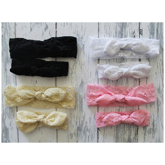 Lace Head Wrap, Lace Turban, Big Bow Headband, Top Knot Headband, Kids Head Wrap, Baby Knot headband, Baby Headband, Baby Lace Headband,