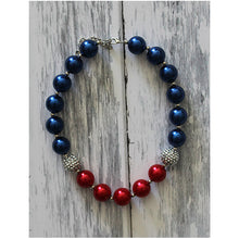 July 4th Necklace, 4th of July Necklace, Baby Necklace, 4th of July Baby, Fourth of July, Bubblegum Necklace, Chunky Necklace, Girl Necklace