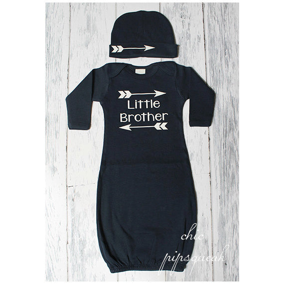 Little Sister Outfit, Baby Gown, Newborn Gown, Baby Sleeper, Baby Onesie, Baby Hospital Outfit, Baby, Baby Take Home Outfit, Baby Girl,