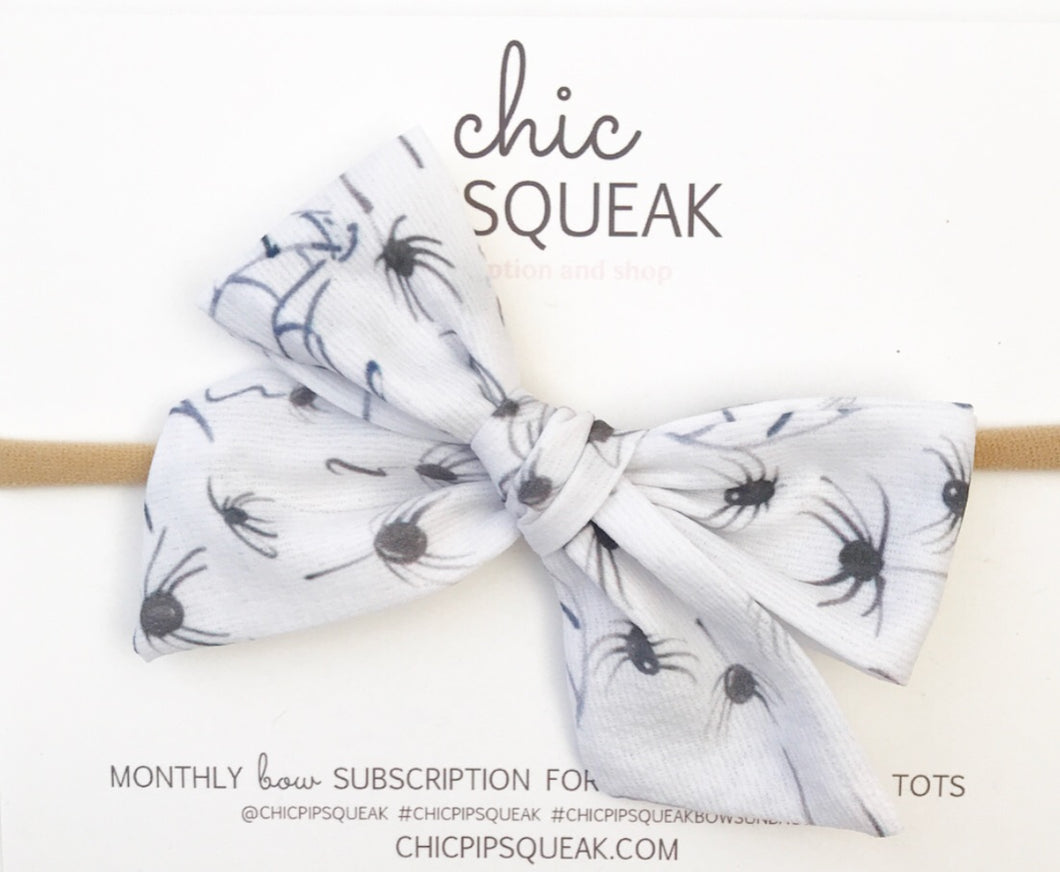 Hand-Tied Bow- Spiders