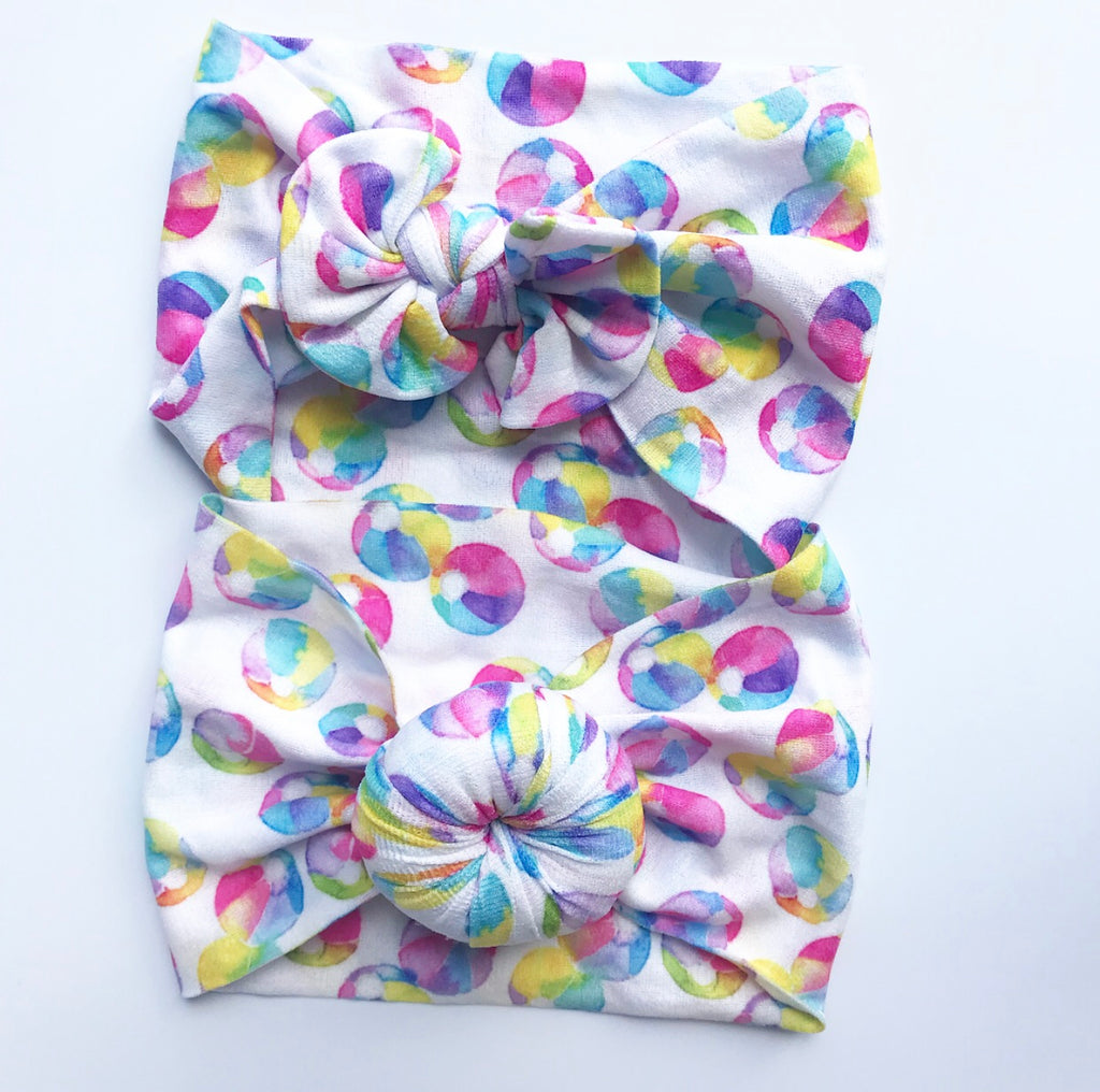 Nylon Headwraps- Beach Balls