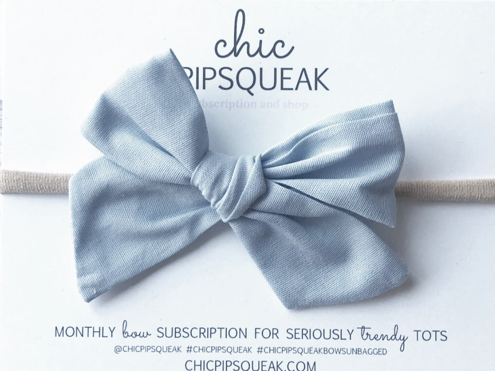 Monthly Special!  Light Chambray Hand-Tied Bow