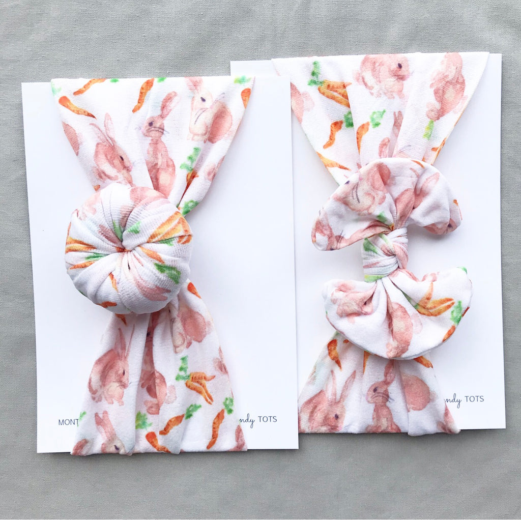 Classic Nylon and Ballet Bun Headwraps- Bunny