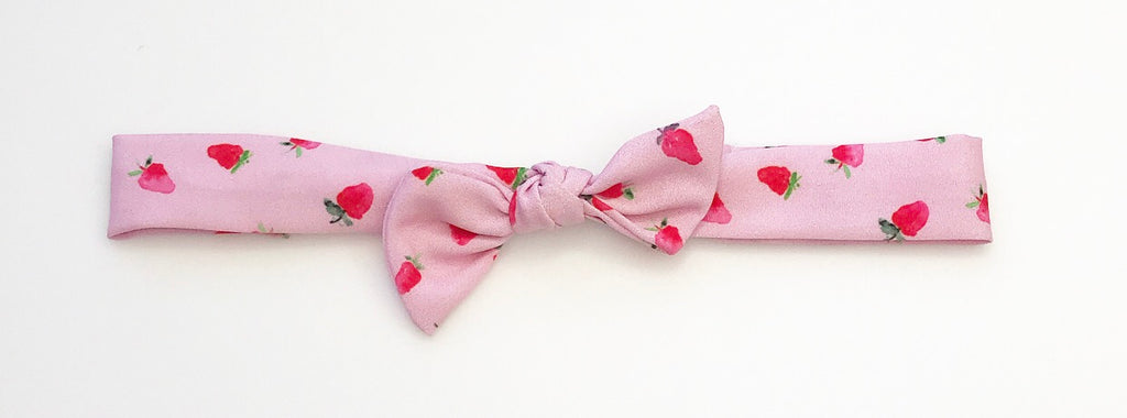 Vintage Headband- Strawberries