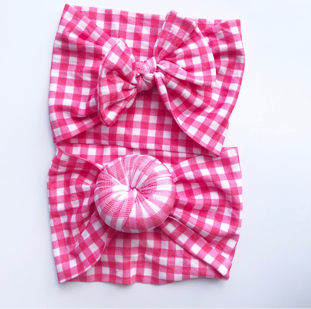 Nylon Headwraps- Red Gingham