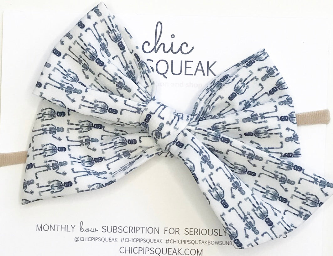 Oversized Hand-Tied Bow //  Skeleton