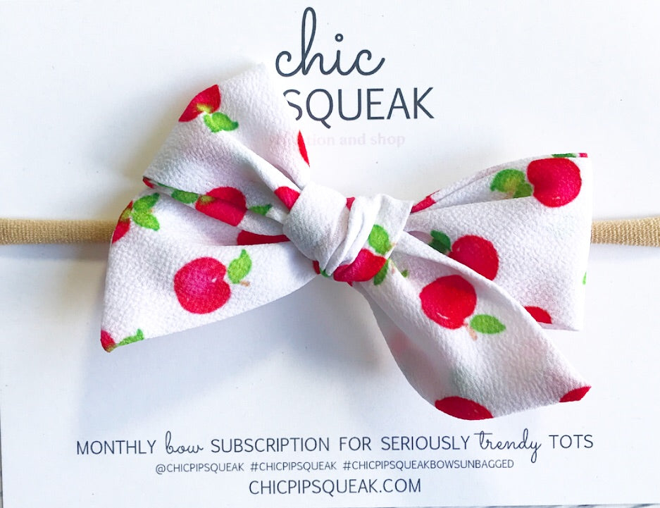 Apple Hand-Tied Bow
