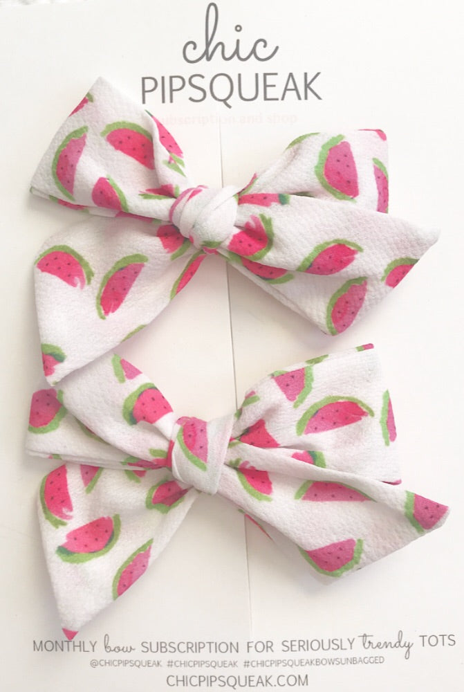 Watermelon Pig Tail Set