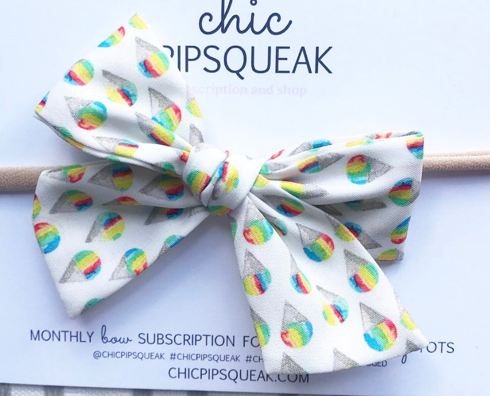 Hand-Tied Bow- Snow Cone