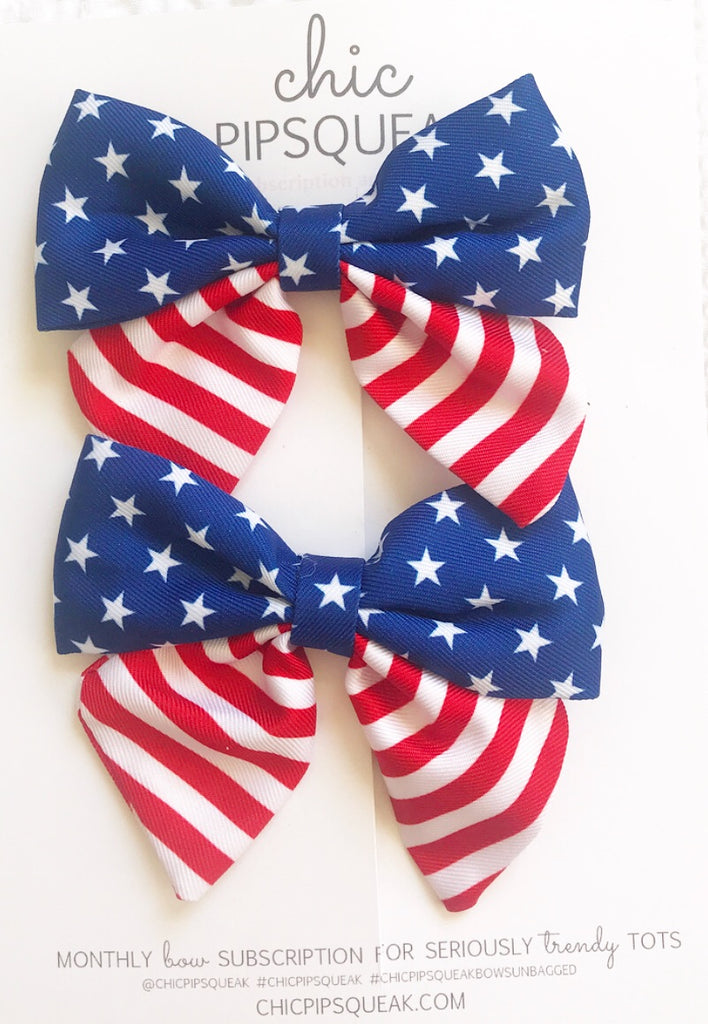 American Sailor Bow Pig Tail Set