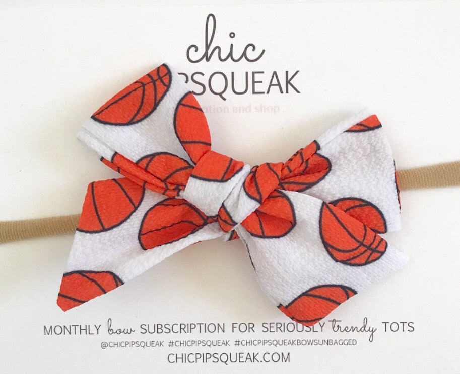 Hand-Tied Basketball Bow