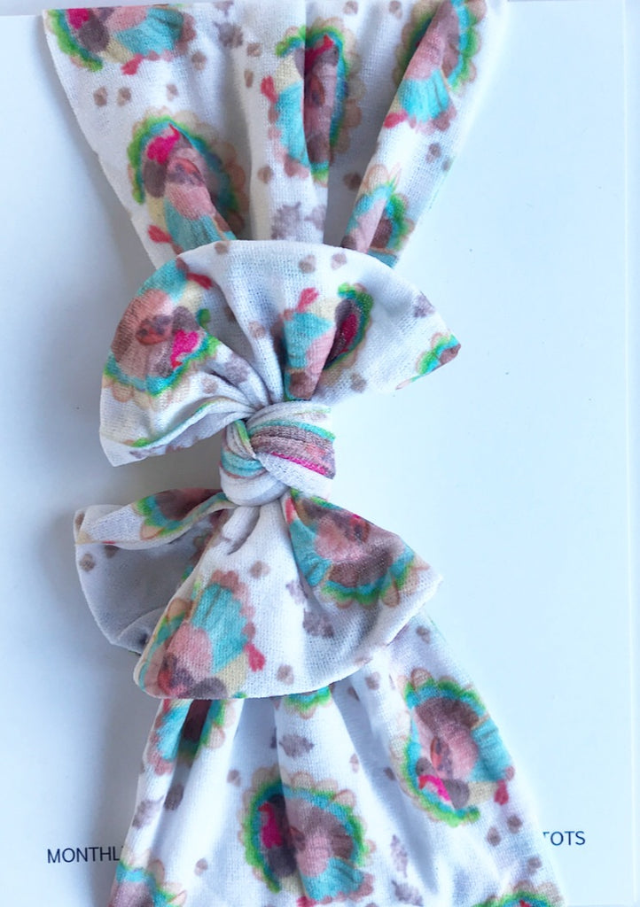 Classic Nylon Headwraps- Watercolor Turkey