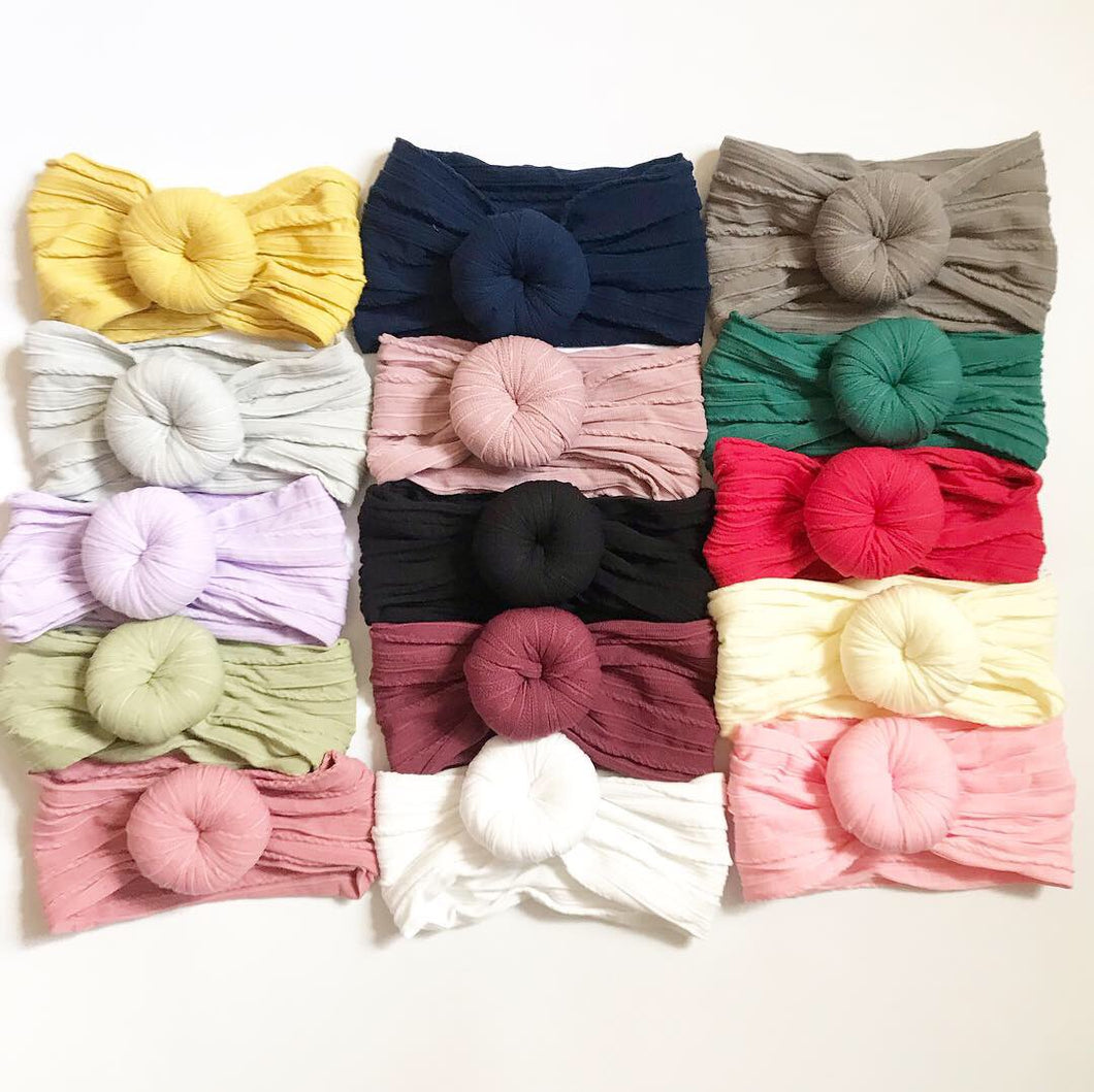 Ballet Bun Cable Knit Headwraps- Cable Knit Headwraps