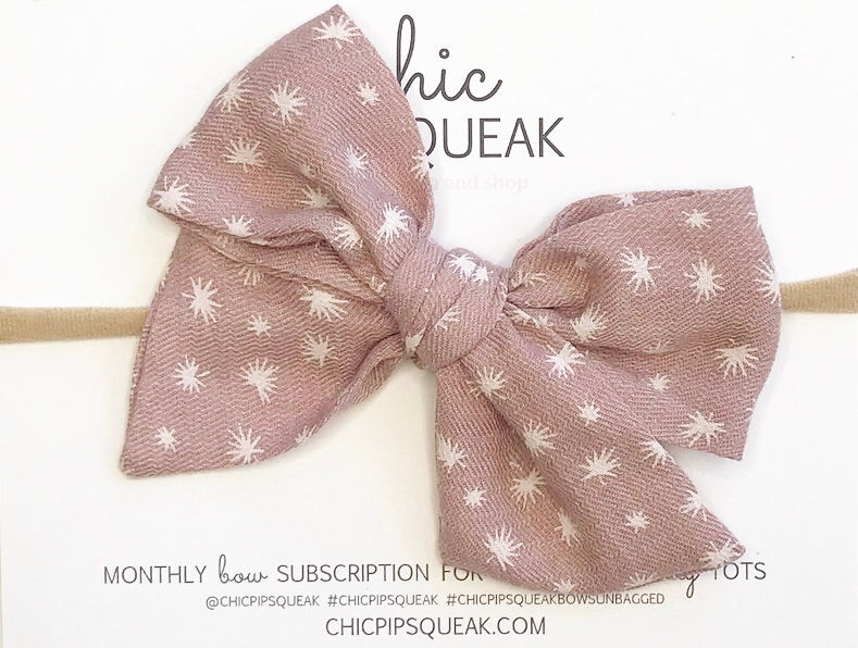 Monthly Special!!!  Hand-Tied Bow- Fall Mauve Floral
