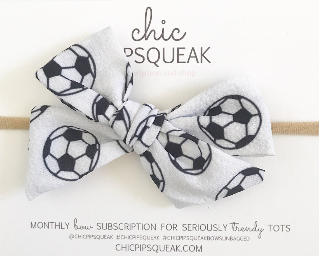 Hand-Tied Soccer Bow
