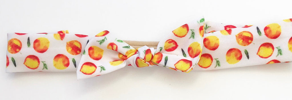 Vintage Headband- Peaches