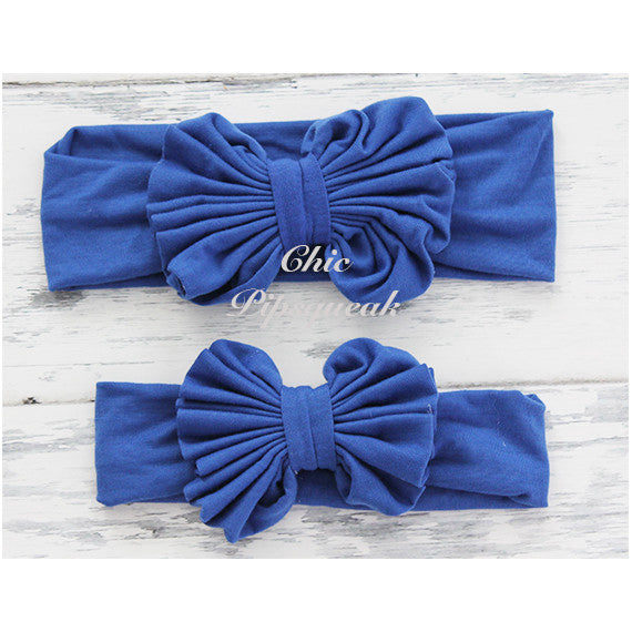 Floppy Bow Headband, Royal