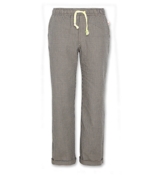 Barry chino check pants - brown
