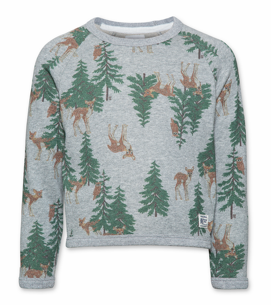 Glitter C-neck Sweater Deer