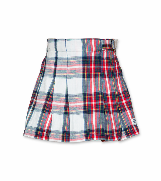 Check Pleat Skirt