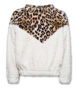 Short Mockneck Leopard Sweater