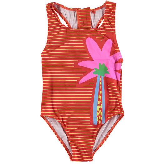 Striped Palm Swimsuit