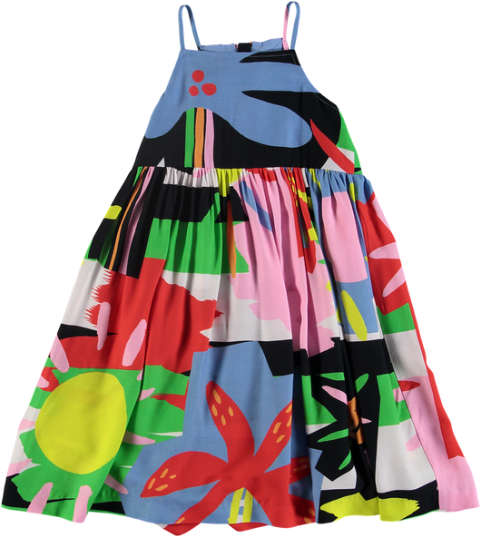 Multicolor Palm Dress