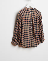 Uta Check Blouse