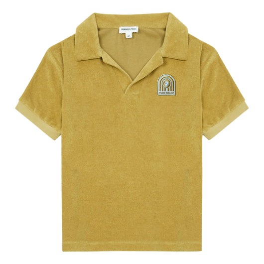 Surf Shack Organic Terry Cloth Polo Shirt - Yellow Curry