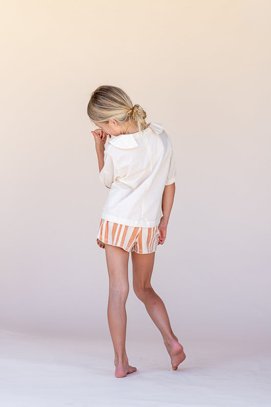 LAATSTE MAAT - Shorts - orange stripe